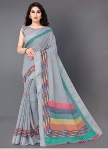 Linen Party Casual Saree