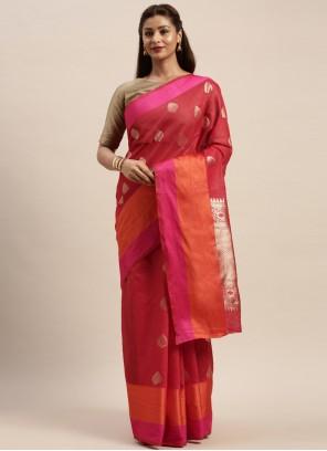 Linen Rani Traditional Designer Saree