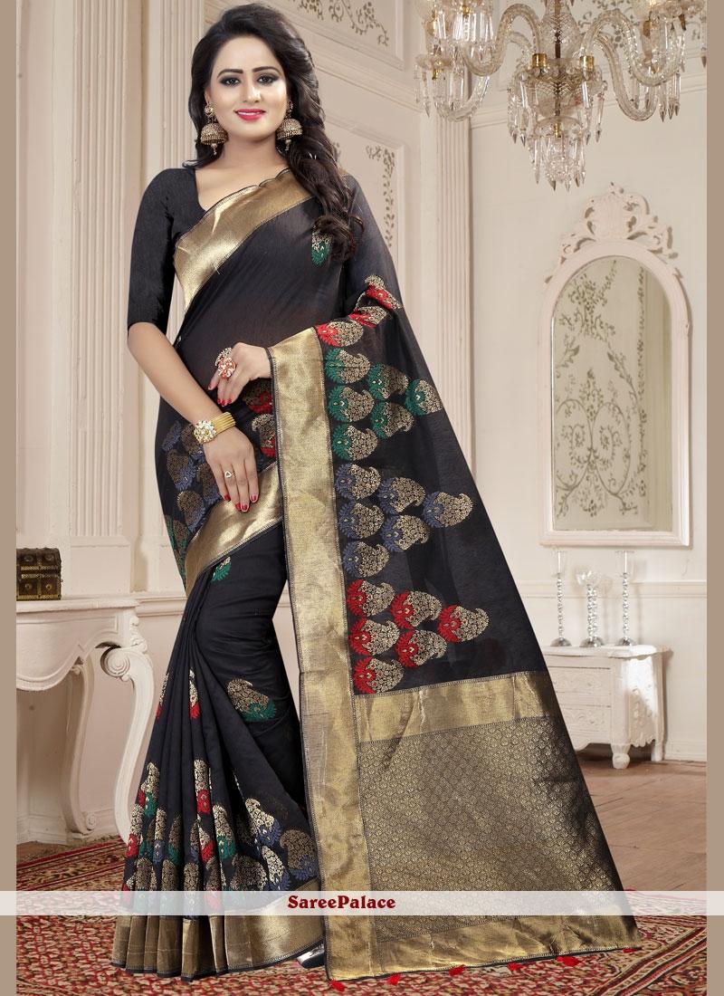 Linen woven Work Classic Designer Saree