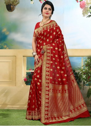 Lively Art Silk Weaving Work Traditional Designer Saree