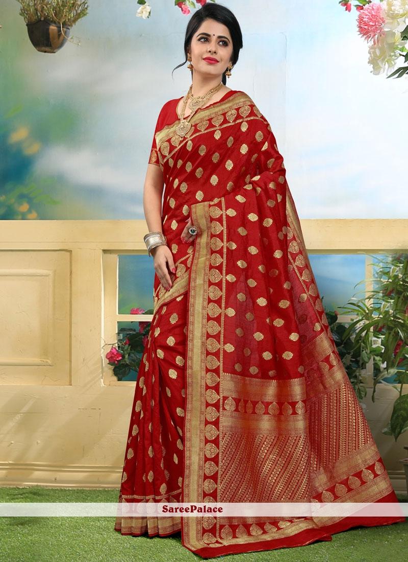 Lively Art Silk Weaving Work Traditional Designer Saree