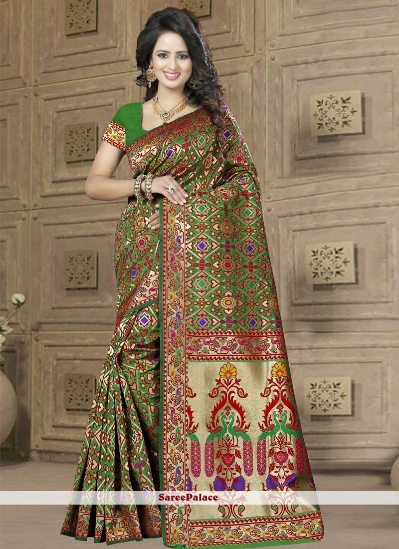 Lively Banarasi Silk Weaving Work Classic Saree