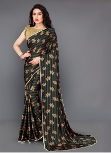 Lycra Festival Multi Colour Classic Saree