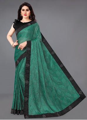 Lycra Green Classic Saree
