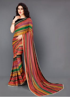 Lycra Party Multi Colour Classic Saree