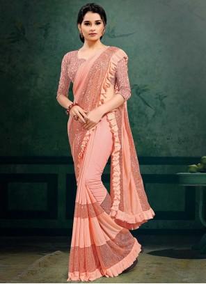 Lycra Sequins Classic Designer Saree
