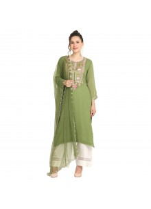 Machine Embroidery  Party Wear Kurti