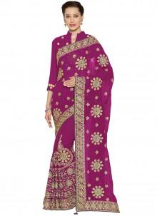 Magenta Classic Designer Saree