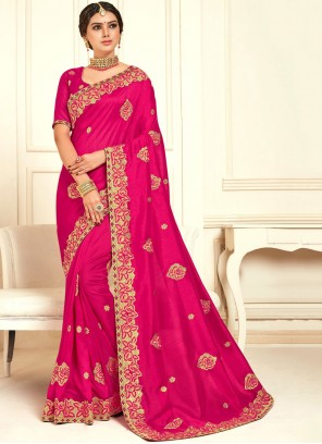 Magenta Color Classic Designer Saree