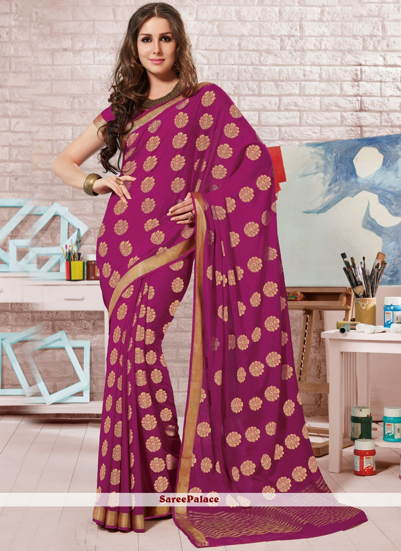 Magenta Designer Traditional Saree