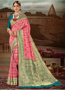 Magenta Festival Traditional Designer Saree