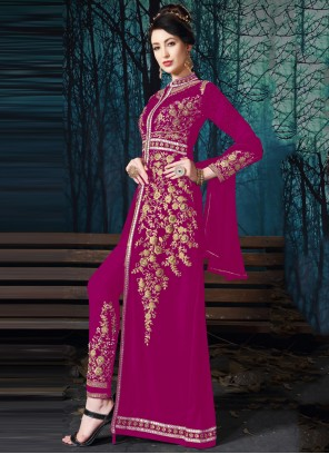Magenta Georgette Salwar Suit