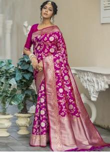 Magenta Sangeet Traditional Designer Saree