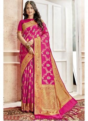 Magenta Weaving Saree