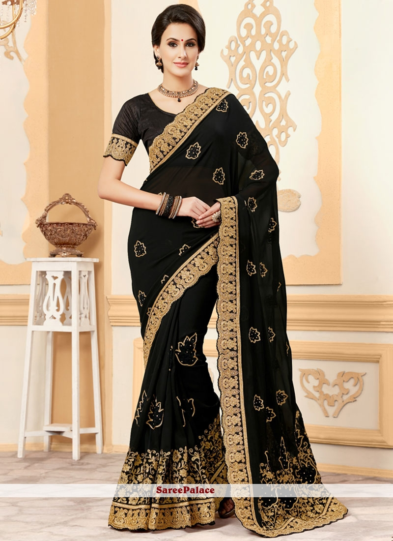 Magnetize Embroidered Work Classic Saree