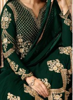 Magnificent Resham Work Faux Georgette Floor Length Anarkali Suit