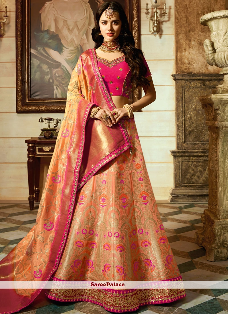 9dfd88a937 Buy Malaika Arora Khan Art Silk Bridal Lehenga Choli Online