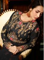 Malaika Arora Khan Black Floor Length Anarkali Suit