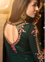 Malaika Arora Khan Faux Georgette Floor Length Anarkali Suit
