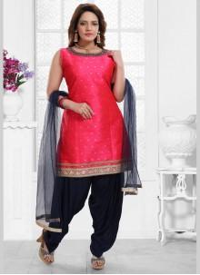 Malbari Silk  Hot Pink Salwar Kameez