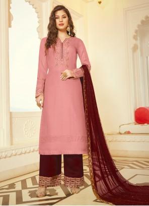 Maroon and Pink Wedding Trendy Salwar Kameez