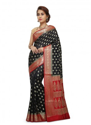 Maroon Art Banarasi Silk Sangeet Designer Traditional Saree
