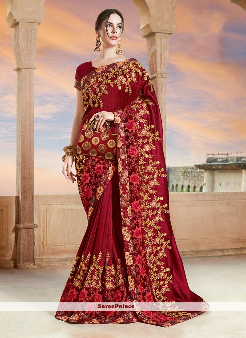 100/% Pure Silk Sari Saree Blouse New Indian Wedding Designer Bridle Party Wear 5