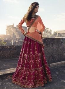 Maroon Art Silk Mehndi Trendy Lehenga Choli