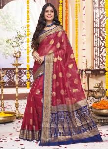 Maroon Ceremonial Classic Saree