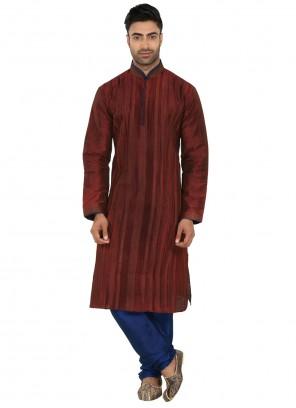 Maroon Color Kurta Pyjama