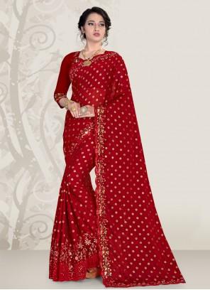 Maroon Color Traditional Designer Saree