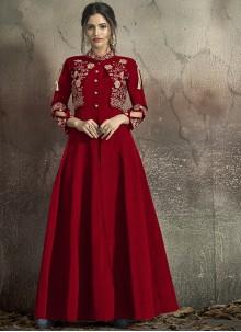 Maroon Designer Gown