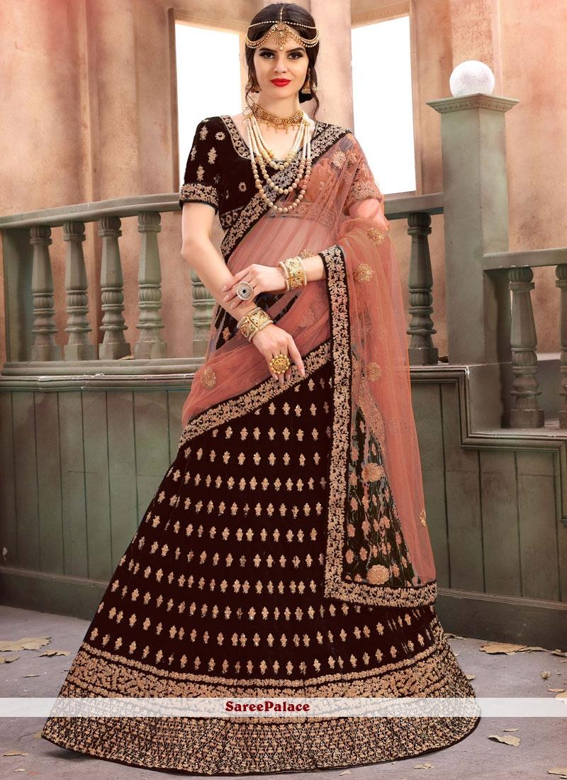 Maroon Designer Lehenga Choli