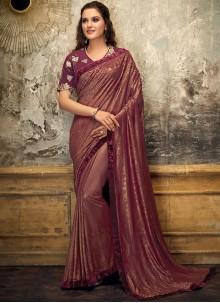 Maroon Fancy Designer Saree