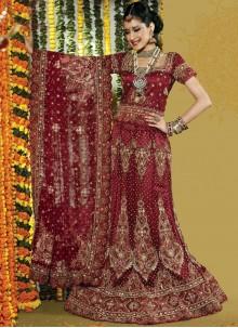 Maroon Fancy Wedding Lehenga Choli