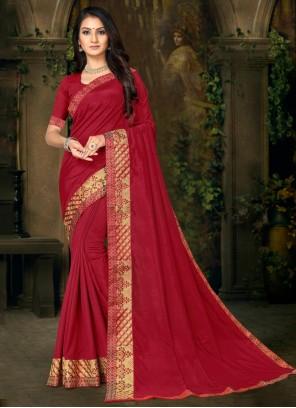 Maroon Lace Trendy Saree