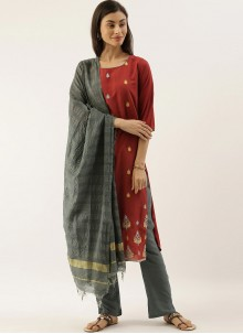Maroon Party Readymade Salwar Kameez