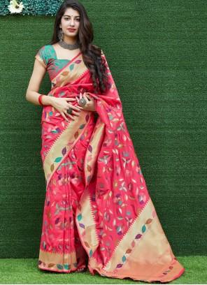 Maroon Party Silk Traditional Saree