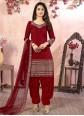 Maroon Resham Festival Designer Patiala Suit