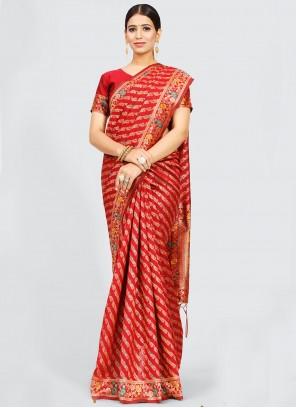 Maroon Weaving Designer Traditional Saree