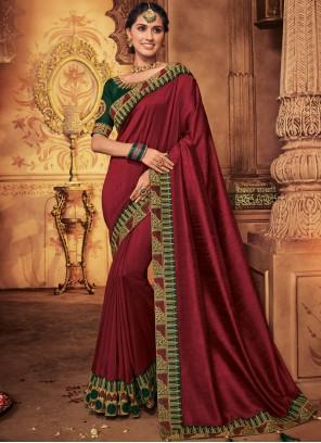 Maroon Wedding Designer Traditional Saree