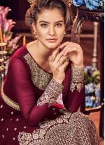 Maroon Wedding Floor Length Anarkali Suit