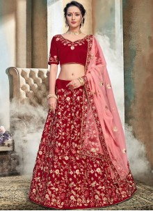 Maroon Wedding Trendy Lehenga Choli