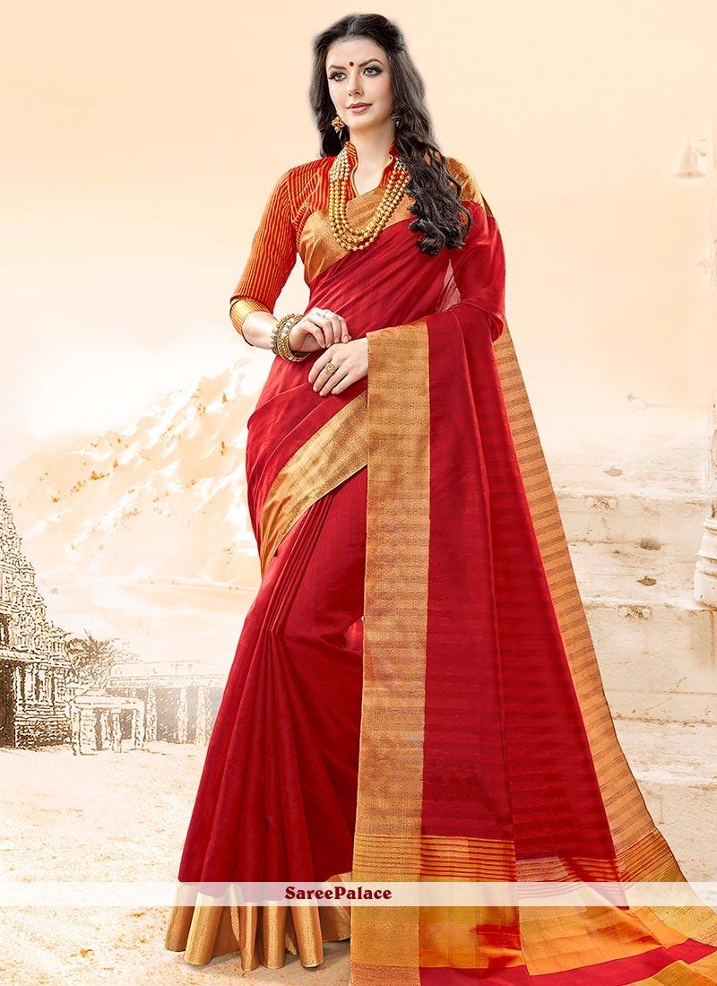 Marvelous Cotton Silk woven Work Traditional  Saree