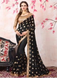 Marvelous Georgette Zari Work Bollywood Saree