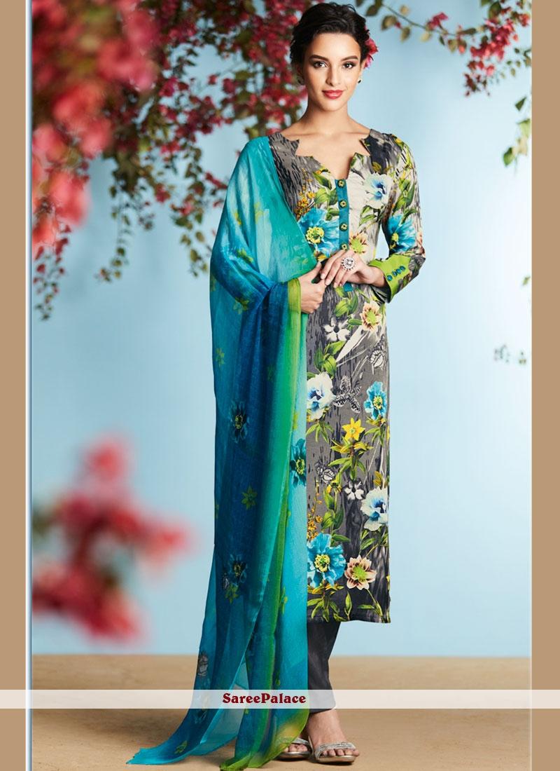 Marvelous Multi Colour Digital Print Work Georgette Palazzo Suit