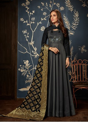 Maslin Silk Handwork Readymade Gown
