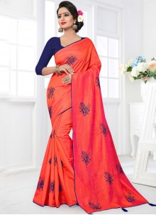 Masterly Art Silk Embroidered Work Designer Traditional Saree
