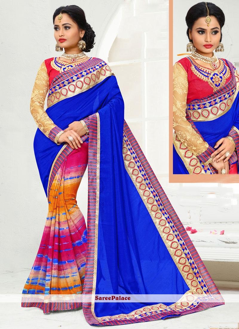 Masterly Multi Colour Art Silk Printed Saree