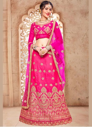 Masterly Pink Embroidered Work Lehenga Choli
